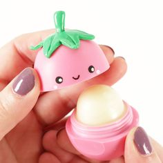 Create an eos lip balm flavors shaped like fruits! this eos tutorial features eos strawberry sorbet, eos lemon drop and eos pomegranate raspberry.