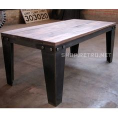 Bolted Coffee Table from Vintage Industrial