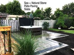 Hard wearing natural stone surface requires minimal maintenance in any traditional or contemporary garden design. Ideal surface for positioning your hot tub.