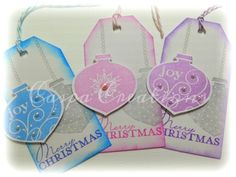 Christmas Tags ~ Stampin Up stamps ♥