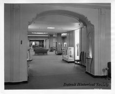 Ladies Department inside The J.L. Hudson Company Department Store. An ...