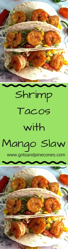 Sautéed sweet, briny, fresh wild caught shrimp with a spicy, healthy slaw with…