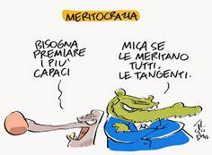 """ITALIAN COMICS - """"Il Mondo in una vignetta"""" di Gianlorenzo Ingrami - Cecigian: La meritocrazia delle tangenti…"""