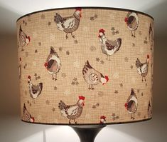Country Life inspired lampshade, This shade will create a wow factor to any room in your home.  I consider my lampshades as a piece of functional art, these shades are sure to create a stunning focal point in your room.  Can be made as a lamp or ceiling fitting. Wide selection or other fabrics and shades available Country Kitchen, Country Life, Handmade Lampshades, Wow Factor, Textile Artists, Neutral Tones, Hens, Shapes, Cool Stuff
