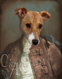 """Un petit Jack, réalisé d""""après un tableau de Gustav Lundberg. (Anthropomorphic dog art)"""