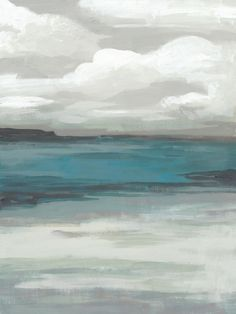 A simple painting of a stormy, overcast sky above a tranquil sea. Storm Front II Wall Art by June Vess from Great BIG Canvas. Canvas Painting Patterns, Sky Painting, Canvas Prints, Framed Prints, Big Canvas, Art Prints, Grey Abstract Art, Abstract Canvas Wall Art, Easy Paintings