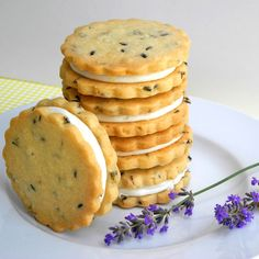 Lemon Filled Lavender Shortbread Cookies for a Summer Day, Easy to Make Vegan - From Calculu∫ to Cupcake∫