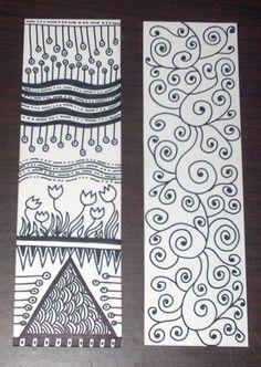 Zentangle Bookmarks 2 by phatelara, via Flickr