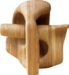Paulo Laender - GANESH- CABEÇA DE ELEFANTE- escultura em madeira laminada colada e cavilhada - data 2008 - dim - 78 x 86 x 95 cms
