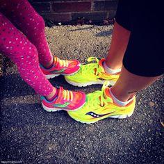 mom and daugher Saucony Running Shoes | happyfitmama.com