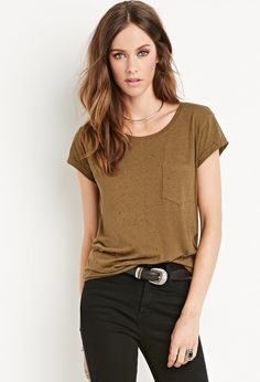 Speckled Cotton-Blend Tee | Forever 21 - 2000142782
