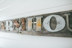 Farmhouse Wooden Sign – The Magnolia Market What better way to add a little farmhouse to your space than to hang a sign about it!