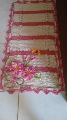 Belo Tapete de crochê achado na net