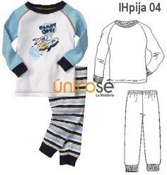 PIJAMA PUÑOS NIÑO, MANGA RAGLAND LARGA . Kids Pajamas, Pyjamas, Chor, Kids Fashion, Baby Boy, Lucca, Sewing, Sweaters, Closet