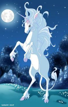 The Last Unicorn. Wasn& the really all about mystical creatures? Do songs get any more epic than that? & the last eagle flies over the last crumbling mountain And the last lion roars at the last dusty fountain& Real Unicorn, Unicorn Art, Magical Unicorn, The Last Unicorn Movie, Magical Creatures, Fantasy Creatures, Ghibli, Art Kawaii, Unicorn Pictures