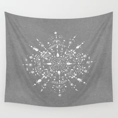 A personal favorite from my Etsy shop https://www.etsy.com/listing/467753173/grey-mandala-wall-tapestry-dorm-room