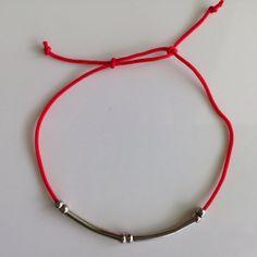 Red String Kabbalah Bracelets Silver Beads by BannerDesignShop, $3.89