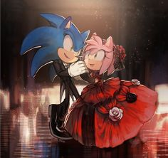 King Sonic the Hedgehog carrying Queen Amy Rose bridal style as they share a kiss. Description from deviantart.com. I searched for this on bing.com/images