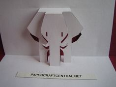 Kirigami Paper Cut Art Decoupage African Elephant | Origami and PaperCraft – PaperCraftCentral.net