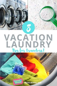 It's a dirty job but someone needs to do it! These 8 vacation laundry tips will make life easier for travelers, whether you choose to wash your own clothes while traveling or outsource this necessity. #laundry #vacation #traveltips Road Trip With Kids, Travel With Kids, Family Travel, Travel Snacks, Travel Toys, Solo Travel Tips, Family Vacation Destinations, Laundry Hacks, Romantic Getaways