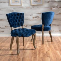 Duke Tufted Velvet Dining Chair Set Of 2