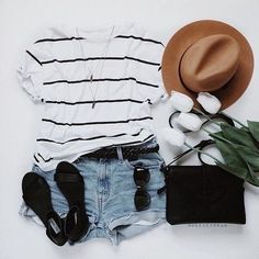 summer outfit | flat lay fashion
