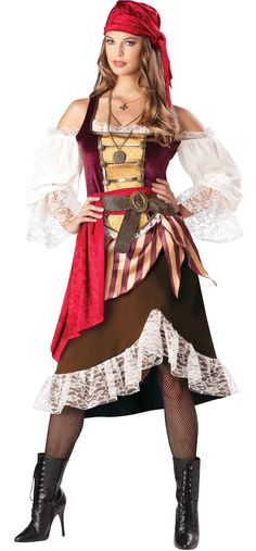 This womens deckhand darlin pirate costume is an authentic womens pirate wench costume. Get this deluxe pirate costume for Halloween or theater production. Pirate Cosplay, Pirate Wench Costume, Female Pirate Costume, Pirate Halloween Costumes, Halloween Fancy Dress, Adult Costumes, Costumes For Women, Women Halloween, Toga Costume