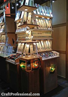 Stacked shelves jewelry display with good lighting