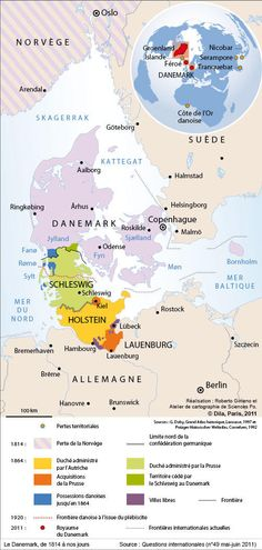 Denmark territorial changes, 1814-2014 (french)