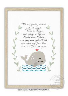 "Niedlicher Kunstdruck mit Illustration / artprint ""listen to your heart"" by… Baby Co, Smart Art, Kids And Parenting, Diy For Kids, Diy Gifts, Hand Lettering, Diy And Crafts, Presents, Art Prints"