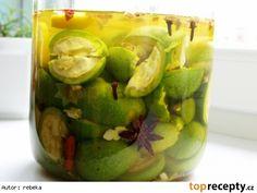 Ořechovka - likér Honeydew, Destiel, Pickles, Cucumber, Food And Drink, Fruit, Drinks, Cooking, Lemon