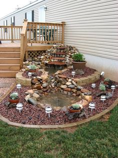 Another take on the boring corner transformation- Don't ignore those out of the way corners! Take the mundane and create something magical with a quick trip to your garden center and a short list of needs.
