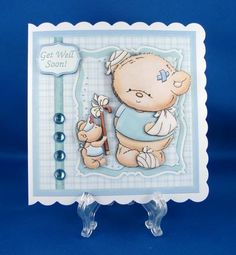 WILL THIS HELP YOU Get Well Soon Topper Decoupage on Craftsuprint designed by Janet Briggs - made by Carolyn Norris