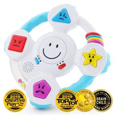 BEST LEARNING My Spin & Learn Steering Wheel - Interactive Educational Toys for 6 to 36 Months Old Infants, Babies, Toddlers - Learn Colors, Shapes, Feelings & Music Game - Ideal Baby Toy Gifts Because he is the most important Toddler Learning, Learning Toys, Toddler Toys, Baby Toys, Kids Toys, Learning Letters, Toddler Gifts, Baby Play, Baby Musical Toys