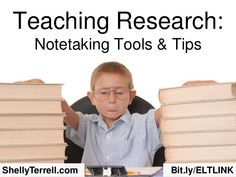 Teaching Research: Note-taking Apps & Tools by Shelly Terrell via slideshare