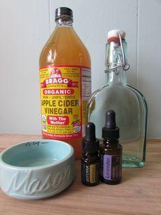 Toner for dark spots using apple cider vinegar and essential oils