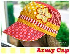 Schirmmütze nach dem Kreativ-Ebook Army-Cap von farbenmix selber nähen
