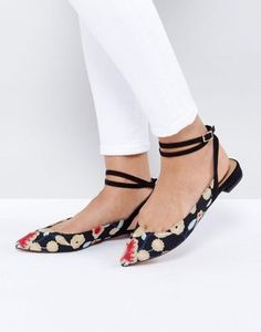731d2adba5e6 ASOS LOLITA Embroidered Ballet Flats Flat Prom Shoes