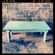 distressed turquoise side table - Google Search