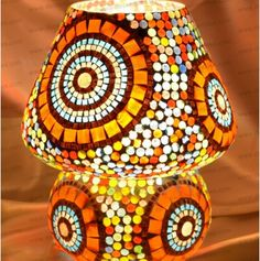 Buy Glass Mosaic Table Lamp by undefined, on Paytm, Price: Rs.1250?utm_medium=pintrest