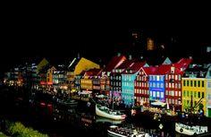 Billund - Night view of Legoland