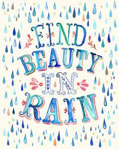 Beautiful Rain by the Wheatfield l #illustration #bluehues