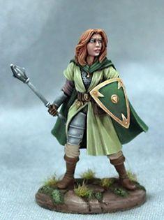 Dark Sword Miniatures - DSM4107 - Female Cleric - Jeff Grace