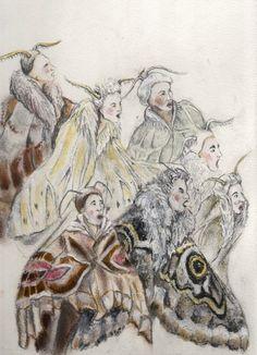 L Enfant et les Sortilege  Costume designs and illustrations for French Opera.
