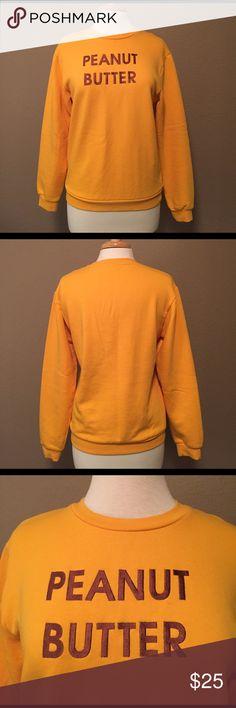 Graphic Sweatshirt Rad brand graphic 'peanut butter' sweatshirt. Size S. Worn once. Like NEW. As seen on Kylie Jenner. rad Tops Sweatshirts & Hoodies