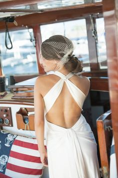 Low back wedding dress - Molly and Nick's Regatta Place Wedding | The Newport Bride