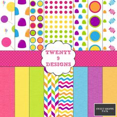 Sweet Shoppe Pack - INSTANT DOWNLOAD by Twenty9Designs on Etsy
