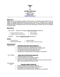 bartender objectives resume bartender objectives resume will give ideas and strategies to develop your own - How To Do Resume Format