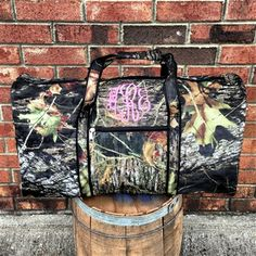 Monogrammed Camouflage Large Duffel Bag $42.99