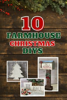 Check out how to make these TEN Christmas decor DIYs to add a rustic farmhouse touch to your home this holiday season. Gnomes, Wood, Black Check Ribbon, Rae Dunn Inspired Lettering...Its all here! Merry Christmas, Christmas Wood Crafts, Farmhouse Christmas Decor, Family Christmas, Christmas Time, Christmas Ideas, Christmas Decorations, Kids Holidays, Winter Holidays